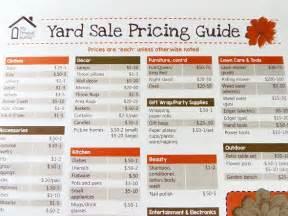 garage recommended garage sale pricing ideas garage sale