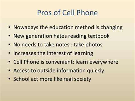 Essay About Using Cell Phone At School by Essay On Pros And Cons Of Cell Phones Writefiction581