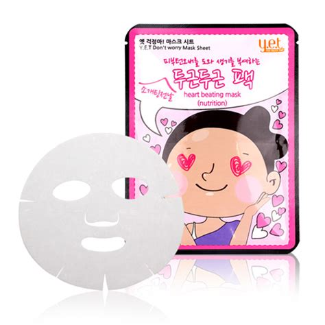 Y E T Mask Sheet y e t don t worry mask sheet beating mask nutrition