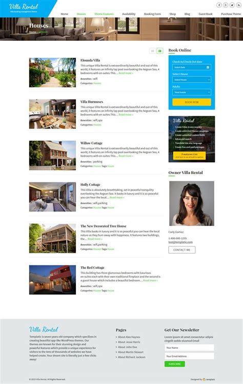 wordpress theme list categories villa rental booking theme 2018 powerful rental