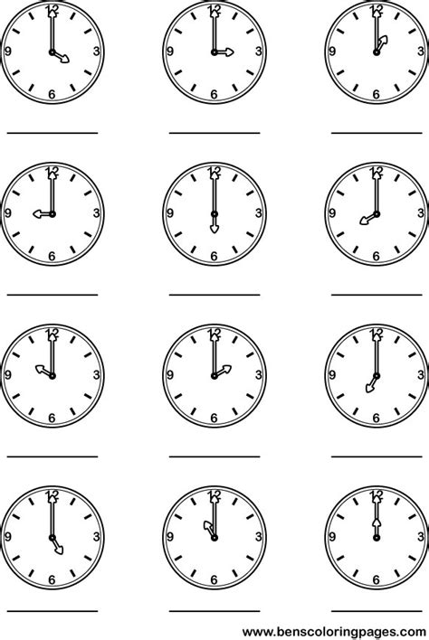 Free Coloring Pages Of Telling The Time Times Coloring Pages