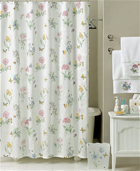 macys shower curtains lenox quot butterfly meadow quot shower curtain bath collection
