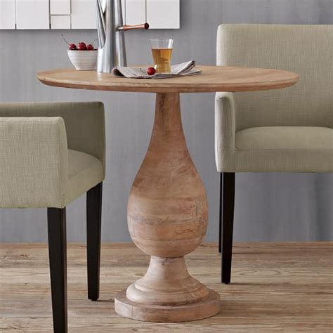 Pedestal Bistro Table Turned Pedestal Bistro Table West Elm