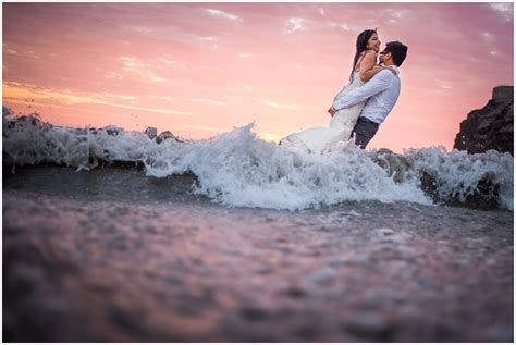 trash the dress beach trash the dress at sunset maik dobiey wedding