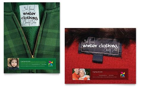 Winter Clothing Drive Designs To Encourage Donations Stocklayouts Blog Drive Templates Brochure