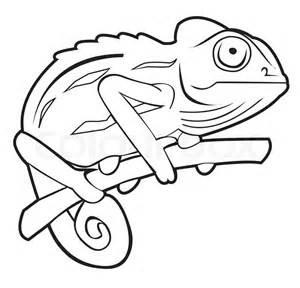 chameleon template chameleon stock vector
