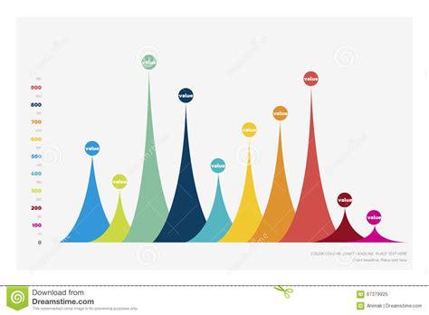 graph layout vector vector flat design statistics column graph chart stock