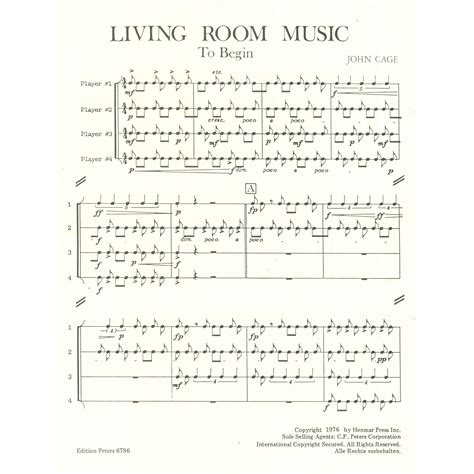 John Cage Living Room Music | living room music by john cage percussion ensemble