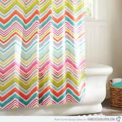 Bright Colored Shower Curtains 15 Bright And Colorful Shower Curtain Designs Home Design Lover