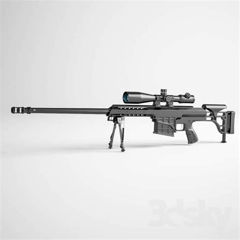 barrett m98b 3d models weaponry sniper rifle barrett m98b
