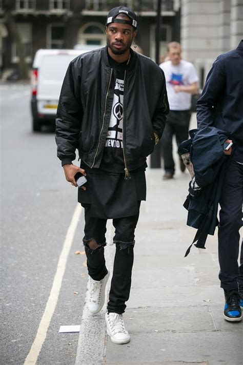 Best Quality Fedorafashion Bomber Rihanna black bomber black extended white sneakers style ain t no god on these