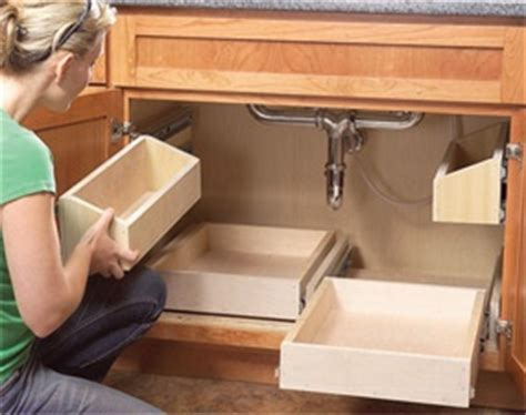 Diy Under Kitchen Sink Storage - organize your cabinets build these rollout under sink storage trays sinks and drawers