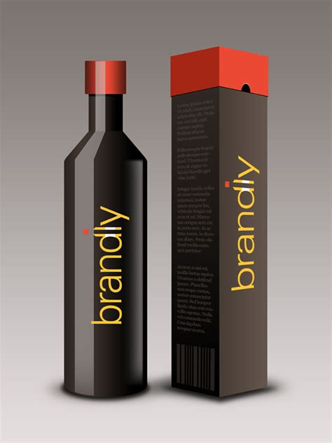 Business Card Design App package design part 1 realistic wine bottle and box psd