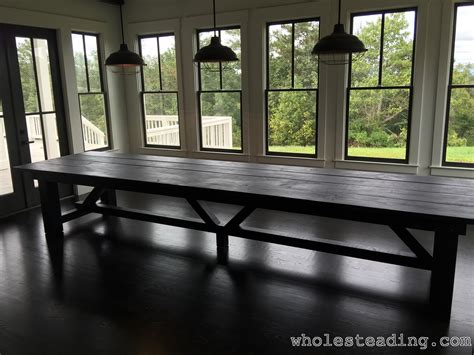 farmhouse dining room table wholesteading