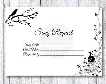song request card template wedding invitation songs yourweek 293b99eca25e