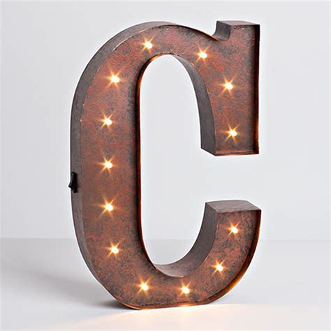 metal letter lone elm studios lighted metal letter 12 inch 92669a
