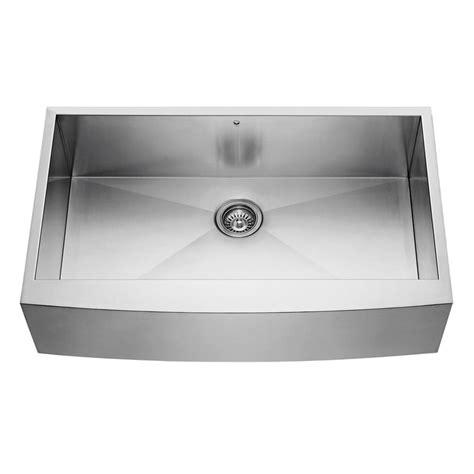 16 kitchen sink vigo stainless steel farmhouse 16 single bowl