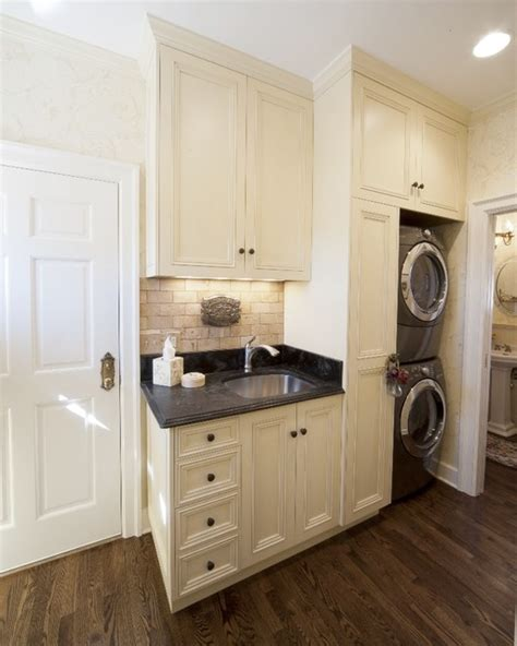 laundry in kitchen style kitchen mediterranean laundry room denver by parrish construction