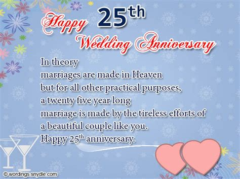 25th Wedding Anniversary Wishes And by 25th Anniversary Wishes Wishes Greetings Pictures