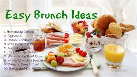 22 quick easy brunch ideas to choose from