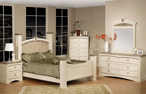 white marble bedroom set white finish traditional bedroom w faux marble accents