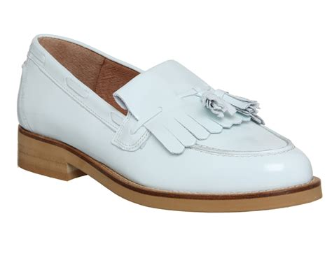Maharani Loafer Flats Dir Co office extravaganza loafer pale blue box leather flats
