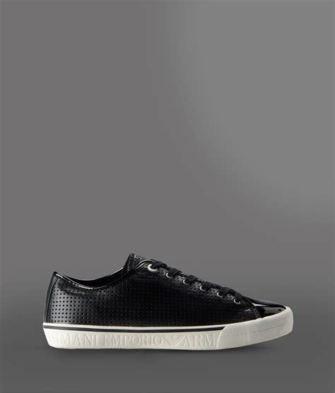 sneaker shoes for lyst emporio armani sneakers in black for