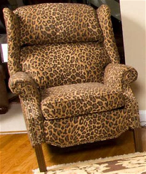 leopard print recliner king hickory
