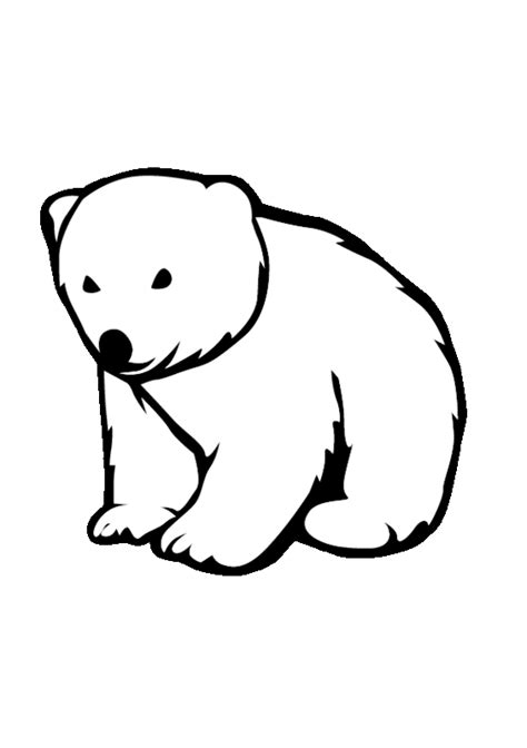 coloring page bear cub polar bear cub colouring pages page 2