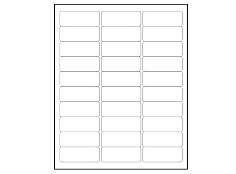 6000 Blank 1 X 2 5 8 Address Labels Downloadable Label Template Via Frompo Templates 3 5 X 5 Label Template