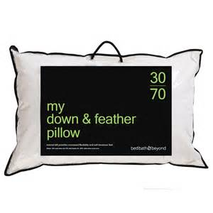 bed bath and beyond feather pillow 70 30 down feather pillow bed bath beyond