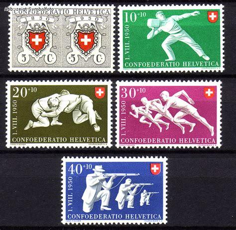 Briefmarken Schweiz Brief briefmarken schweiz michel nr 545 549 pro patria 1950