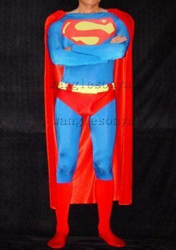 superman costume lycra ebay