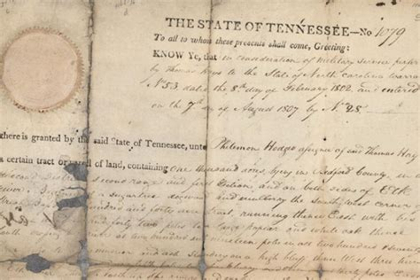 Tennessee Records Property Early Carolina Tennessee Land Grants At The