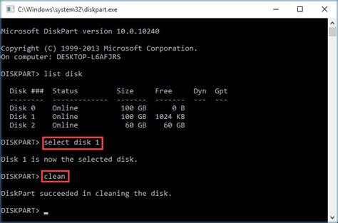 diskpart format partition only clean on wrong disk undo diskpart clean command now