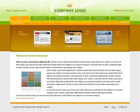 Web Template 40 beautiful and free business psd website templates