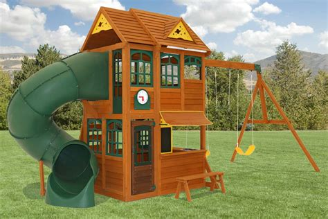 swing house toro climbing frame slide and swing set
