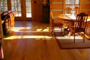 ash and pine floors in a log cabin ozark hardwood flooring