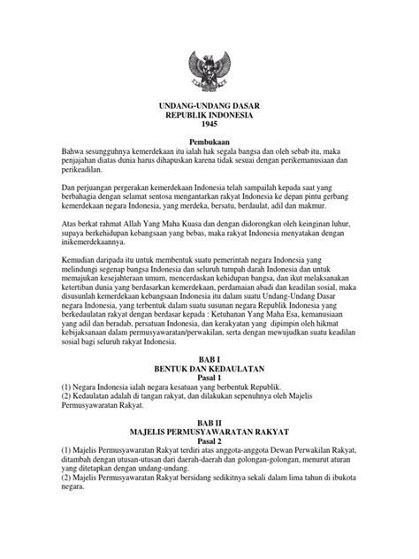 teks pembukaan uud 1945 17 undang undang dasar pembukaan negara republik
