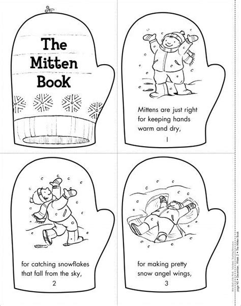 free printable gingerbread man mini book the mitten book mini book of the week from scholastic