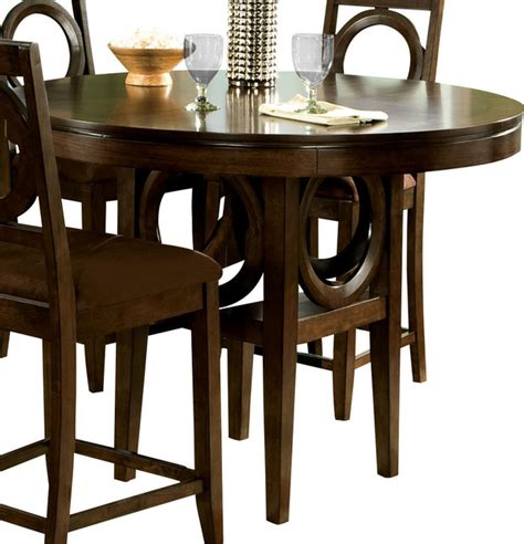 Standard Height For Dining Table Standard Furniture Coterno Counter Height Table In Brown Cherry Traditional Dining Tables