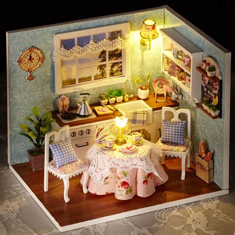 dollhouse h dollhouse miniature diy kit w lights quot happy series