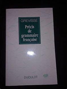 0004335619 precis de grammaire francaise maurice grevisse et henri briet l accord du participe