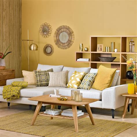 mustard living room living room colour schemes
