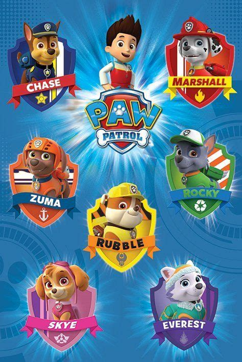 Paw Patrol Pop Up Card Template by Paw Patrol Tv Show Poster Print Character Crests
