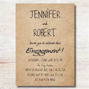 simple rustic personalized engagement invitation cards ewei017 as low as 0 94