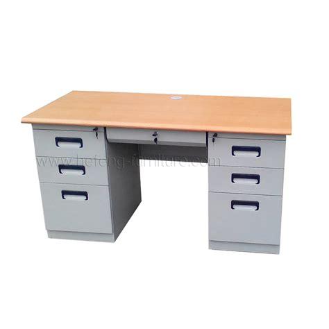 metal office desk escritorio 7 cajones hefeng furniture