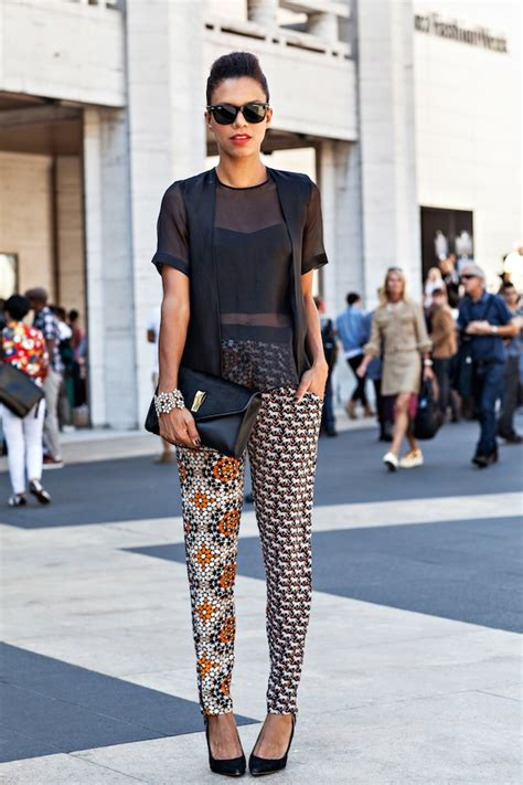 how to wear printed pantstrousers fall2013 pinterest nyfw the printed pants 187 style me grasie