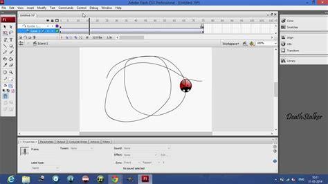 2d animation flash tutorial youtube flash tutorial motion tween along path 2d animation