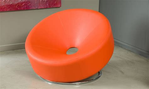 Donut Chair by Bonded Leather Donut Chair Groupon Goods